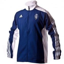 Real Zaragoza players presentation Anthem jacket 2017 - Adidas