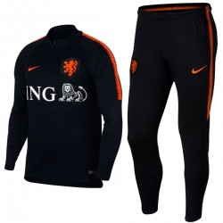 Netherlands football black training technical tracksuit 2018/19 - Nike