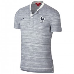 France Grand Slam grey presentation polo shirt 2018/19 - Nike