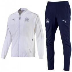Olympique Marseille white/navy presentation tracksuit 2018/19 - Puma