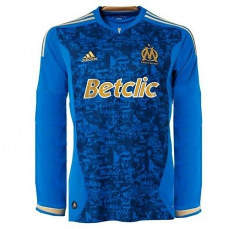 Olympique de Marseille Soccer Jersey Away 11/12 by Adidas-long sleeves