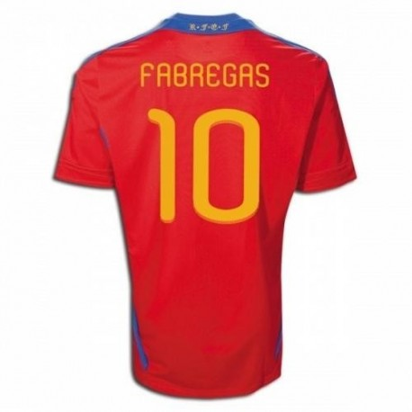 Spain National Jersey Home 10/12 Fabregas 10 by Adidas