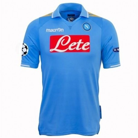 SSC Napoli Jersey Home Uefa Champions League 2011-12 Player Issue for race-Macron