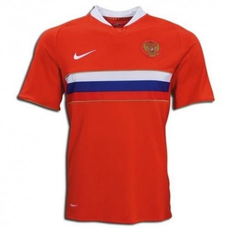 National Soccer Jersey Russia Away 2008-Nike