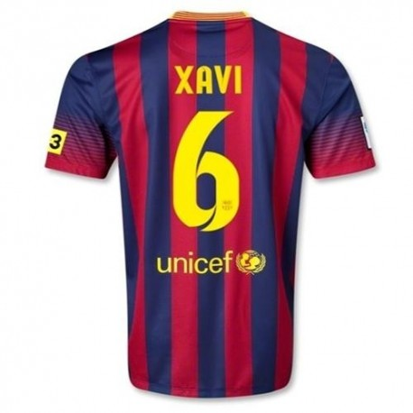 FC Barcelona Home Football Jersey 2013/14 Xavi 6-Nike