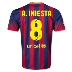 FC Barcelona Home Football Jersey 2013/14 a. Iniesta 8-Nike
