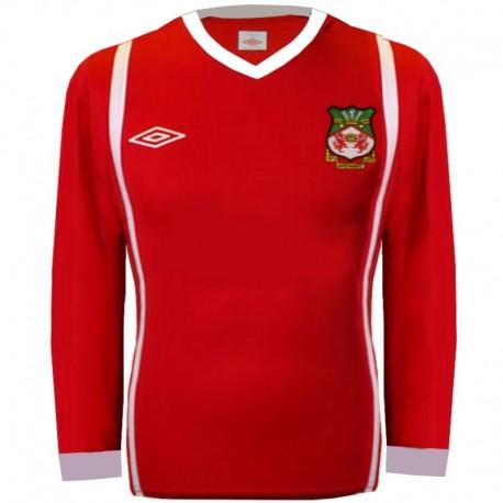 Wrexham FC Home football shirt 2010/11 longsleeve - Umbro