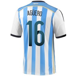 Argentina Home football shirt 2014/15 Aguero 16 - Adidas