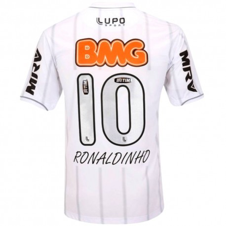 Atletico Mineiro Away soccer jersey 2013/14 Ronaldinho 10 - Lupo