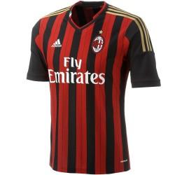 Ac Milan Soccer Jersey 2013/2014 Home Adidas