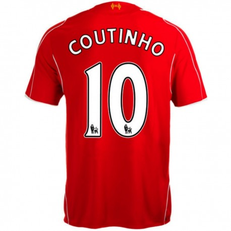 Liverpool FC Home soccer jersey 2014/15 Coutinho 10 - Warrior