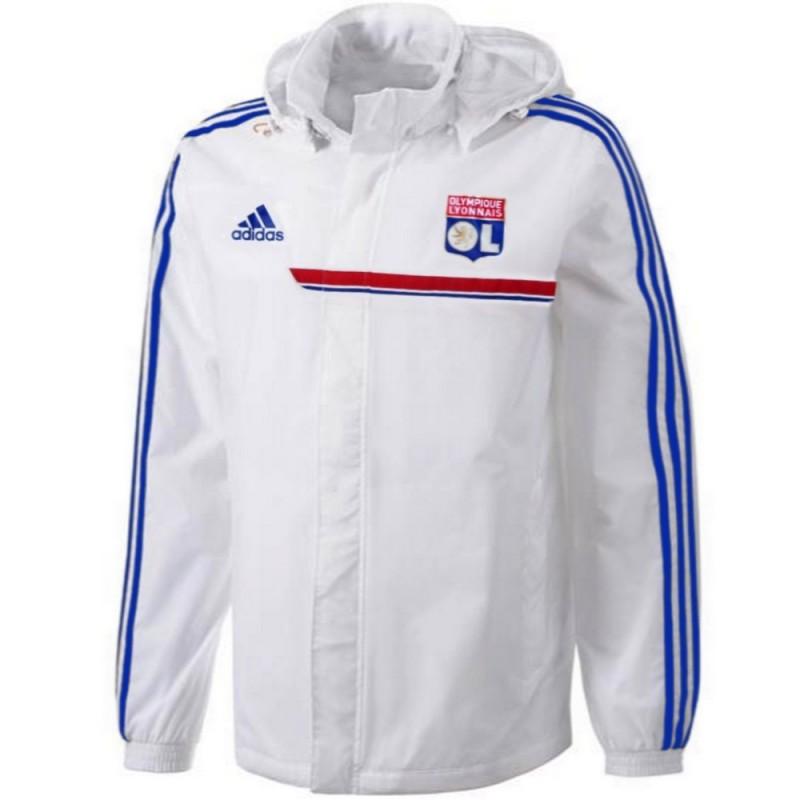 ol olympique lyon all weather rain jacket 2013 14 adidas. Black Bedroom Furniture Sets. Home Design Ideas