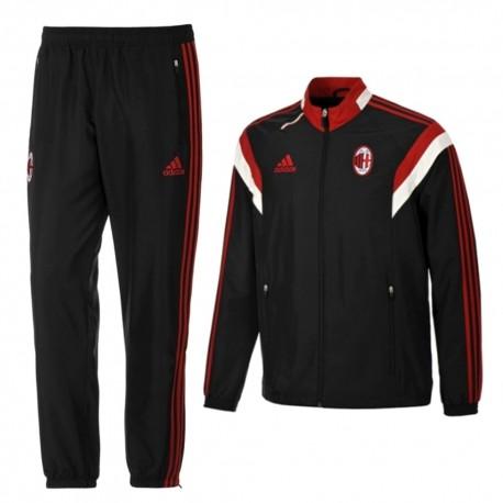 AC Milan black presentation tracksuit 2014/15 - Adidas