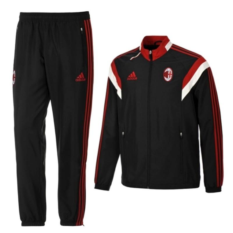 AC Milan schwarz Präsentation Trainingsanzug 2014/15 - Adidas