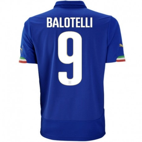 Italy national team Home football shirt 2014/15 Balotelli 9 - Puma