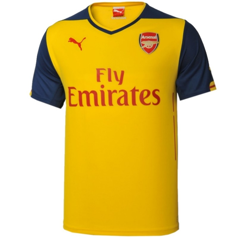 Maillot de foot arsenal exterieur 2014 15 puma for Arsenal maillot exterieur 2013