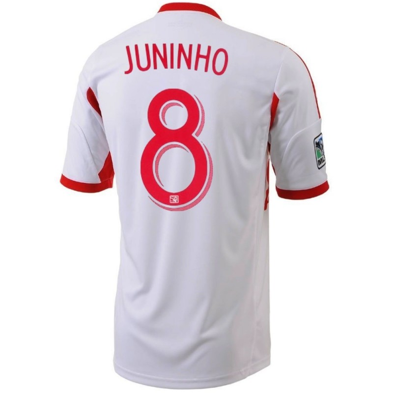 maillot de foot new york red bulls home 2013 14 juninho 8 adidas sportingplus passion for. Black Bedroom Furniture Sets. Home Design Ideas