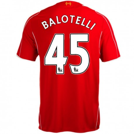 Liverpool FC Home soccer jersey 2014/15 Balotelli 45 - Warrior