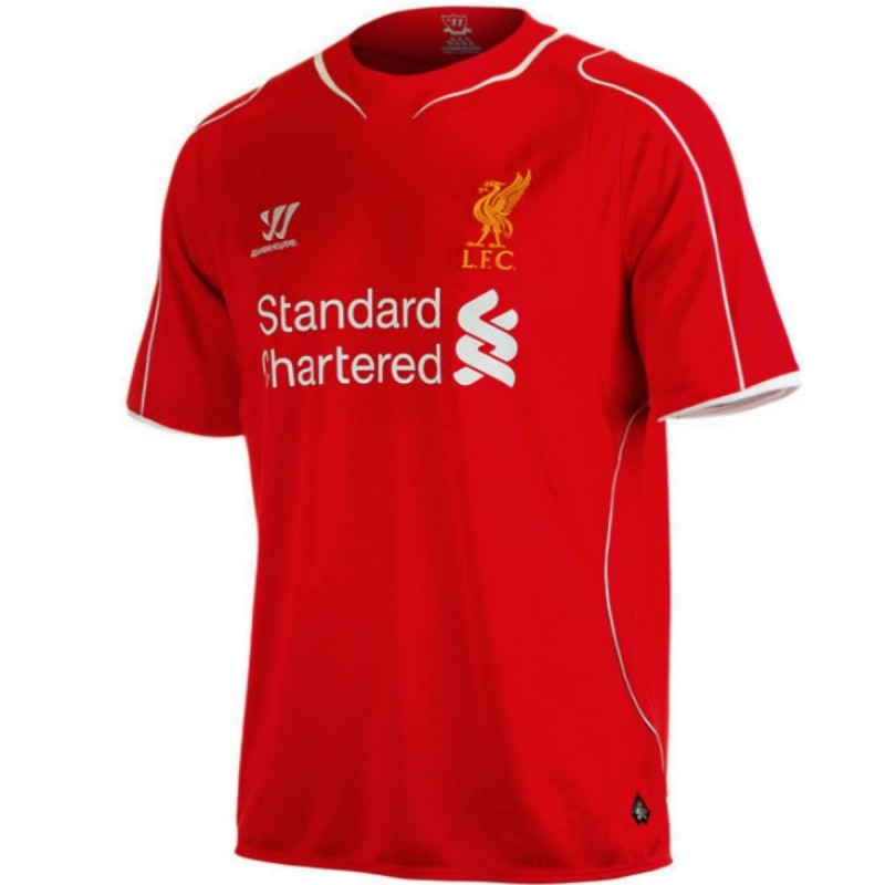 ... Liverpool FC Home soccer jersey 2014/15 Balotelli 45 - Warrior