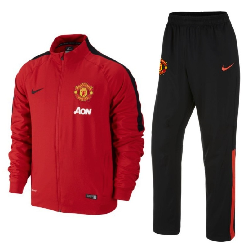 manchester united fc rot schwarz pr sentation. Black Bedroom Furniture Sets. Home Design Ideas