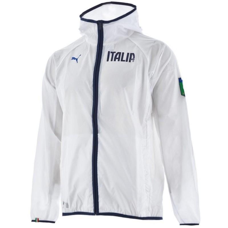 veste coupe vent d 39 entrainement italie 2014 15 blanc puma sportingplus passion for sport. Black Bedroom Furniture Sets. Home Design Ideas