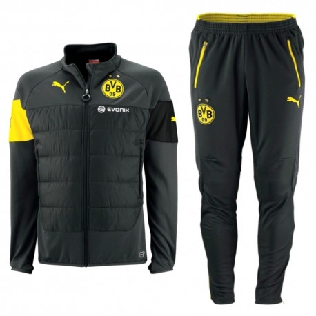 BVB Borussia Dortmund anthracite black training tracksuit 2014/15 - Puma