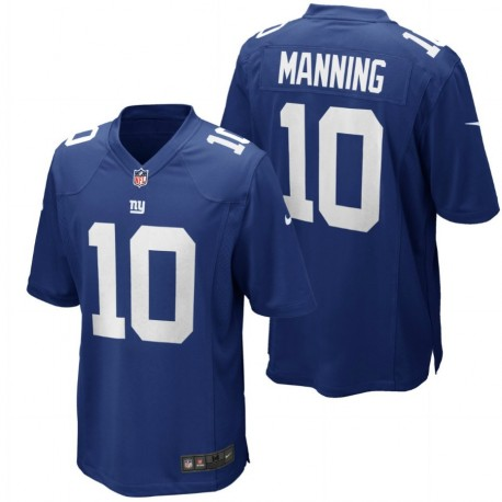 New York Giants Shirt  Home - 10 Manning Nike