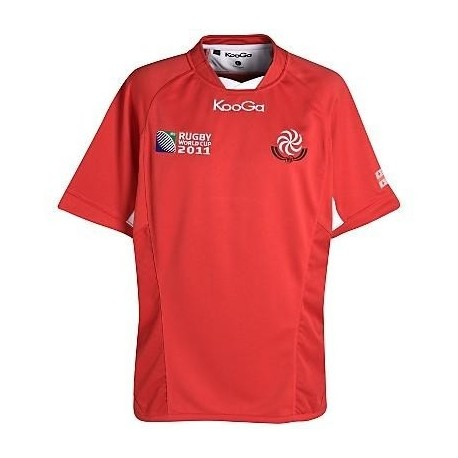 Georgia Rugby jersey 2011/12 Home World Cup 2011 by manufacturer KooGa