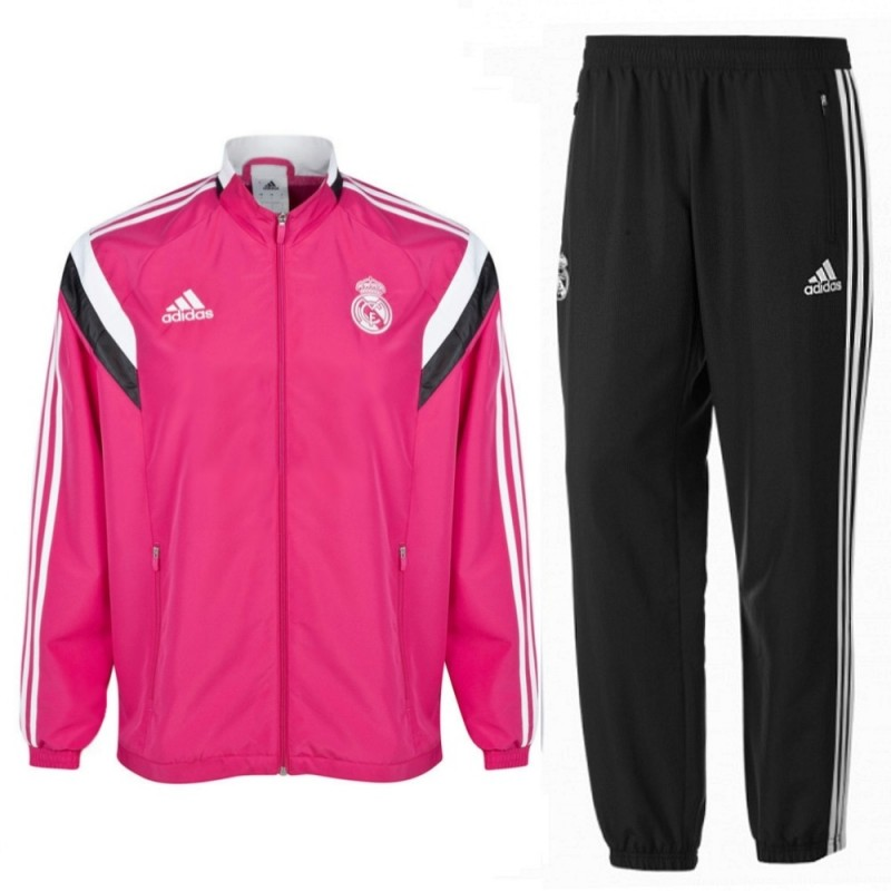 real madrid cf rosa presentation trainingsanzug 2014 15. Black Bedroom Furniture Sets. Home Design Ideas
