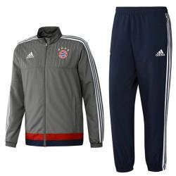 Bayern Munich grey presentation tracksuit 2015/16 - Adidas