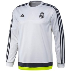 Real Madrid white training sweat top 2015/16 - Adidas