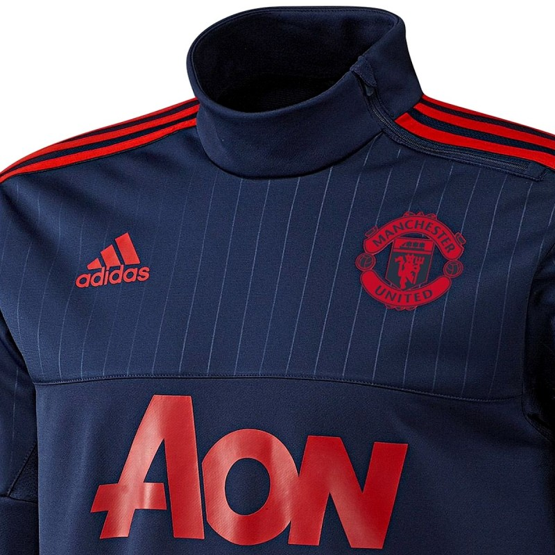 sweat tech top d 39 entrainement manchester united 2015 16 adidas sportingplus passion for sport. Black Bedroom Furniture Sets. Home Design Ideas