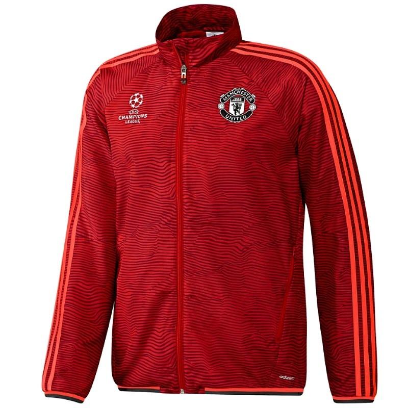 02a999d8f97a9 ... survetement de presentation manchester united champions league 201516  rouge adidas
