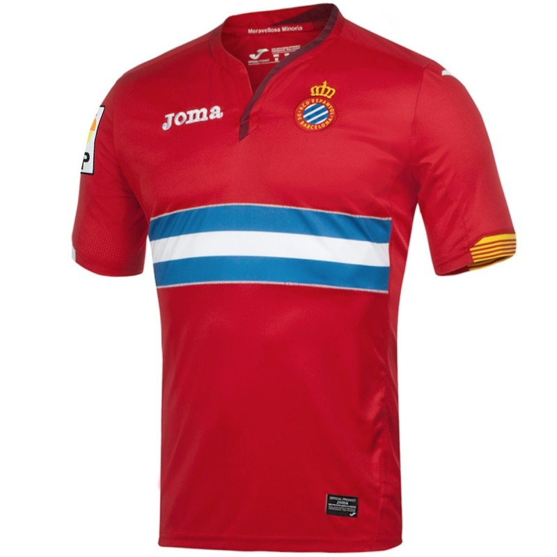 Rcd espanyol barcelone maillot exterieur 2015 16 joma for Maillot barcelone exterieur