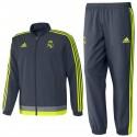 Real Madrid presentation tracksuit 2015/16 grey - Adidas