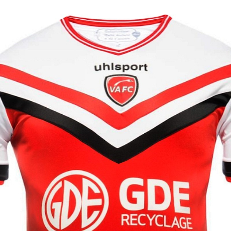 maillot de foot valenciennes fc domicile 2014 15 uhlsport. Black Bedroom Furniture Sets. Home Design Ideas