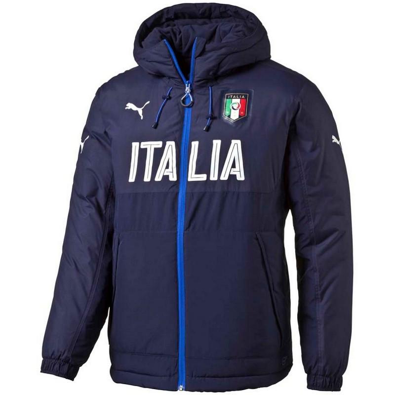 Italy Training Bench Jacket 2016 17 Navy Puma