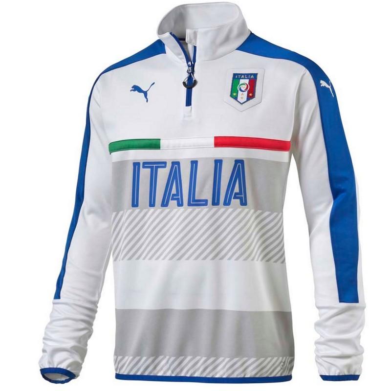 Italy Technical Training Sweat Top 2016 17 White Puma
