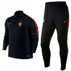 Portugal football team tech training tracksuit 2016/17 black - Nike
