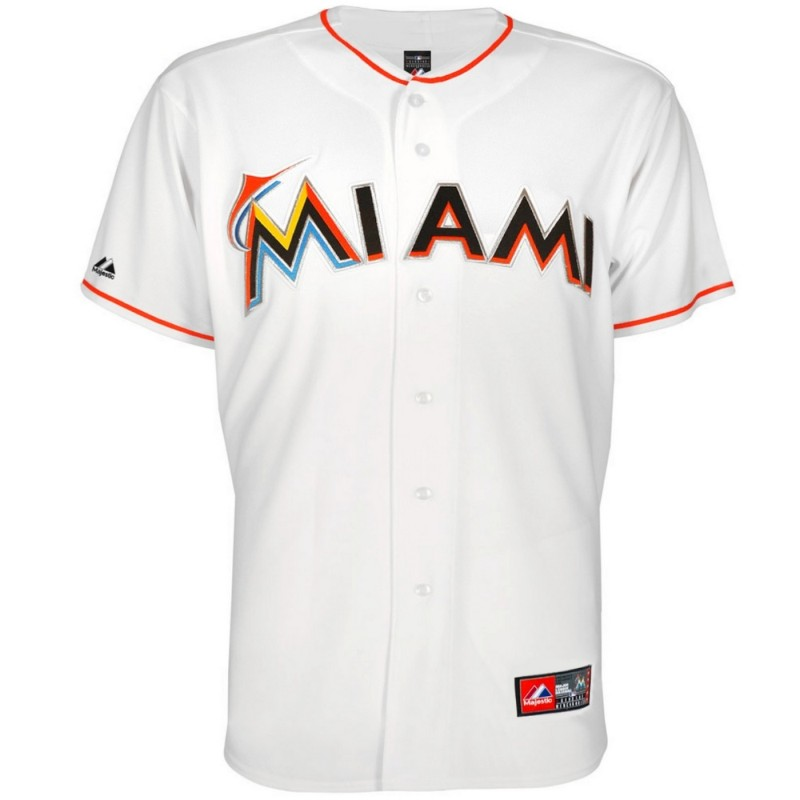 maillot de baseball mlb miami marlins home majestic. Black Bedroom Furniture Sets. Home Design Ideas
