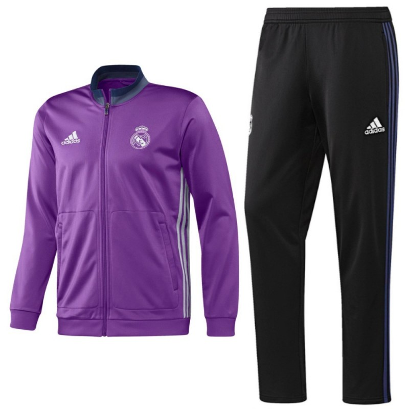 real madrid jogging trainingsanzug 2016 17 away adidas. Black Bedroom Furniture Sets. Home Design Ideas