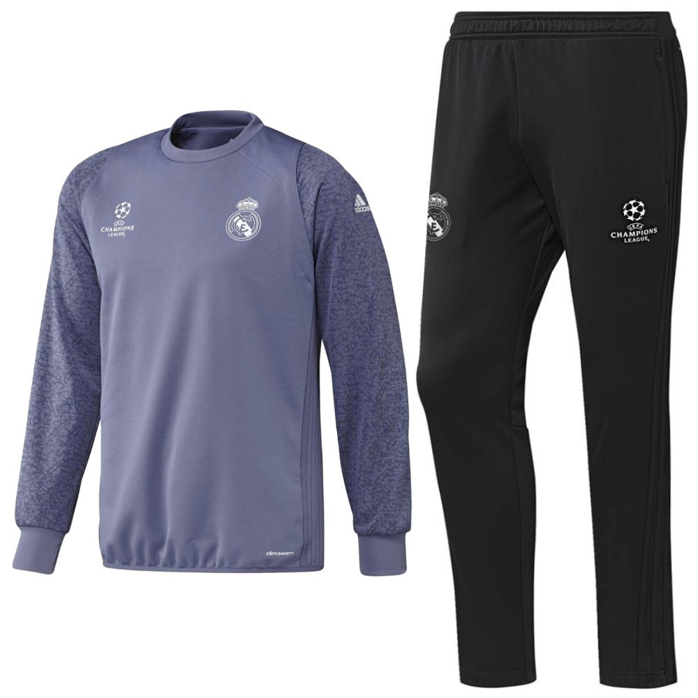 real madrid champions league sweat trainingsanzug 2016 17. Black Bedroom Furniture Sets. Home Design Ideas