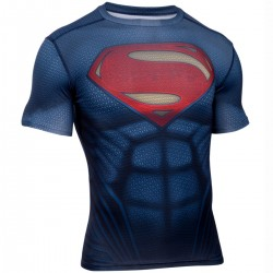 "Under Armour ""Transform Yourself"" Superman navy compression shirt"