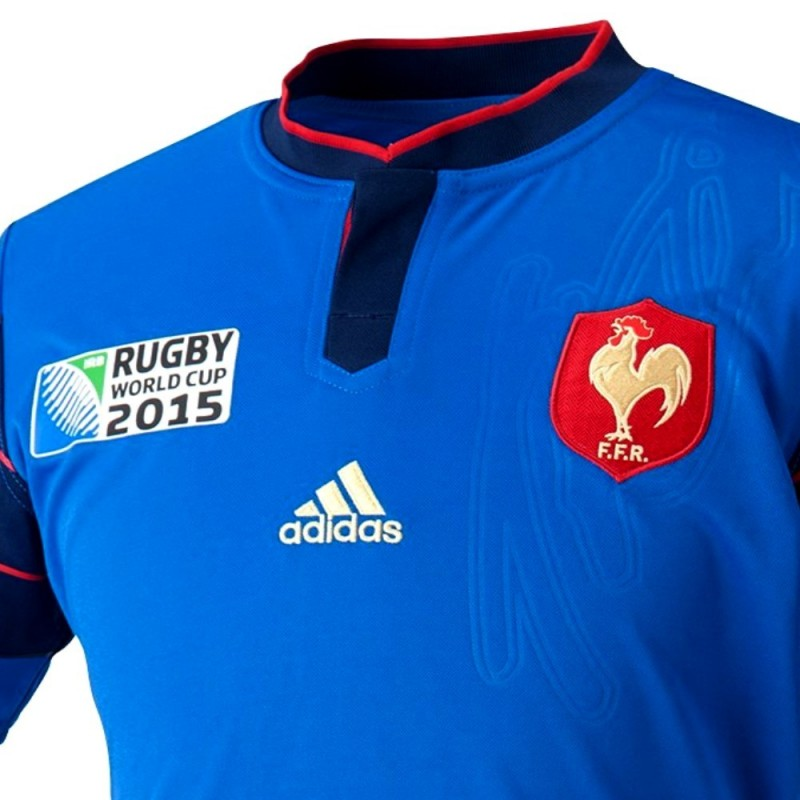Adidas Rugby Home: France Rugby World Cup Home Jersey 2015/16