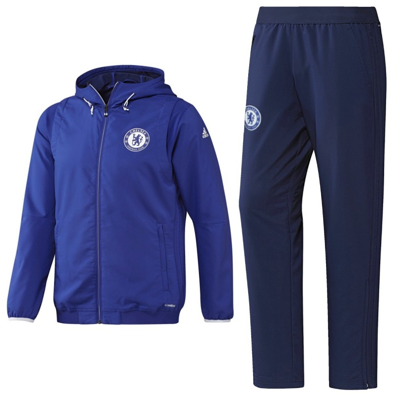 Chelsea Cups Blue Presentation Tracksuit 2016 17 Adidas