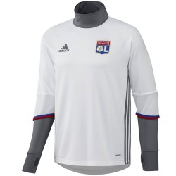 Olympique Lyon technical training top 2016/17 white - Adidas