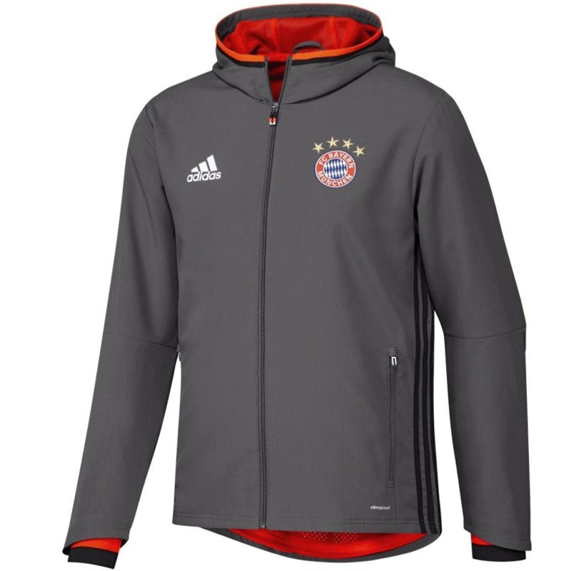survetement de presentation bayern munich 2017 gris adidas. Black Bedroom Furniture Sets. Home Design Ideas