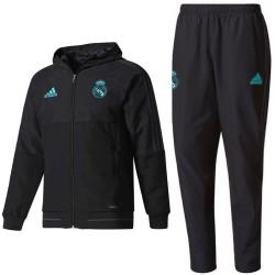 Real Madrid black presentation tracksuit 2017/18 - Adidas