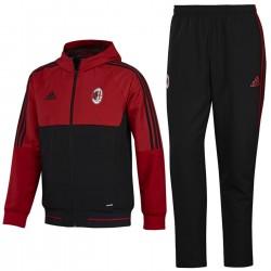 AC Milan red/black presentation tracksuit 2017/18 - Adidas