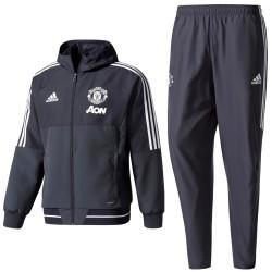 Manchester United dark grey presentation tracksuit 2017/18 - Adidas
